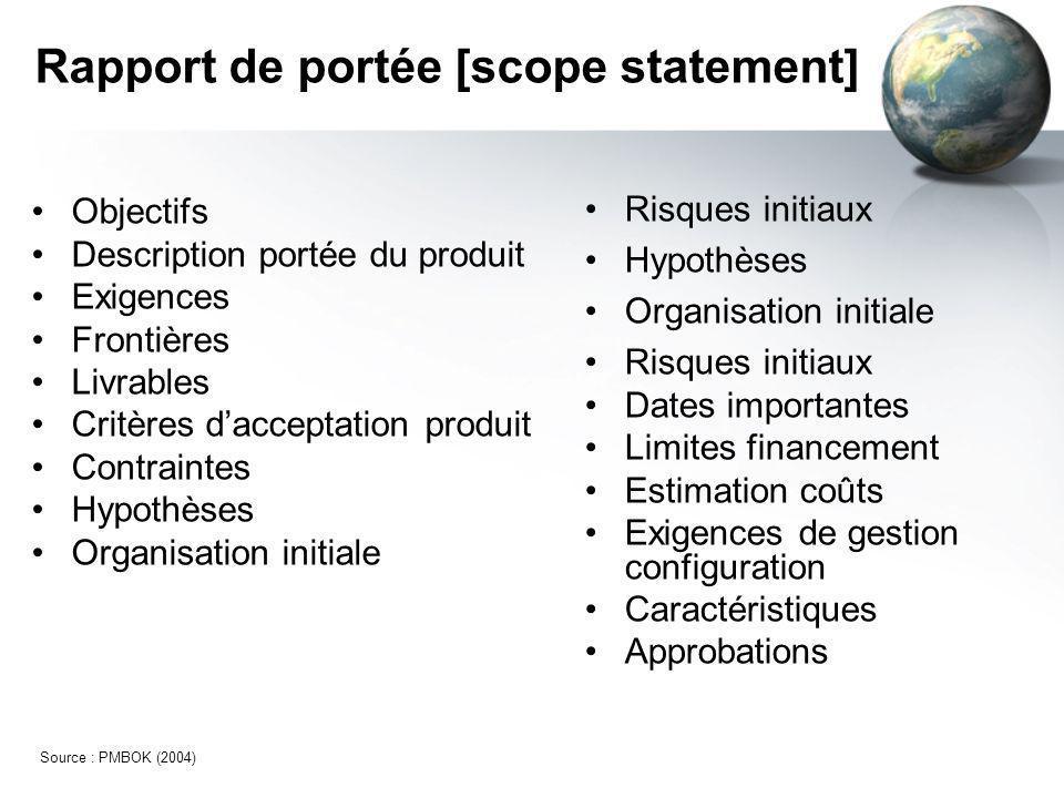 Rapport de portée [scope statement]